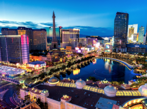 Picture of Las Vegas at dusk