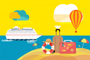 Vacation Club Graphic Illustration